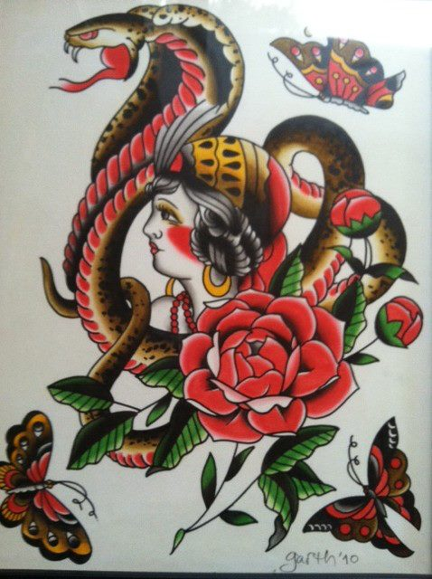 Tattoo Flash Art Gallery Portfolio - Village Tattoo Romeo | Village ...